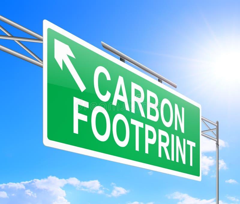 Het concept van de koolstofvoetafdruk. stock illustratie