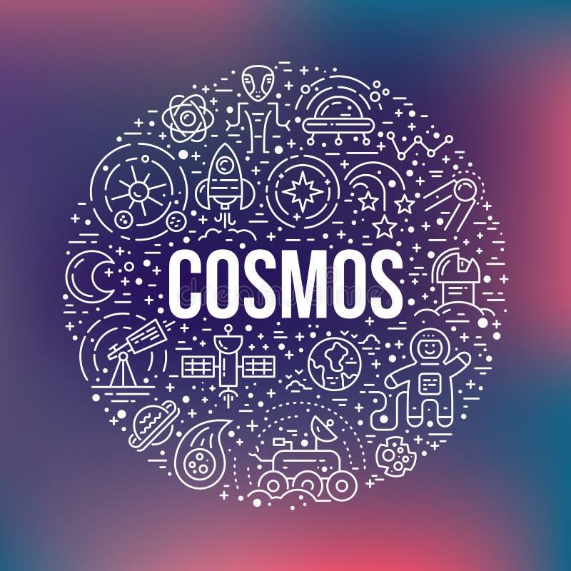 Het Concept van de kosmoscirkel vector illustratie