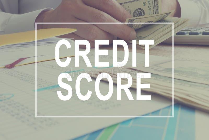 Het concept van de kredietscore De manager werkt royalty-vrije stock foto's