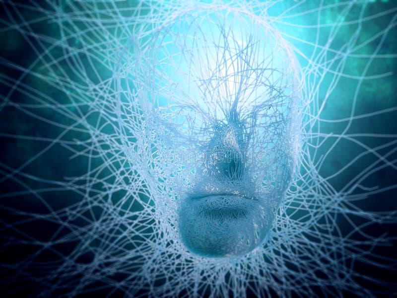 Het concept van de kunstmatige intelligentie vector illustratie