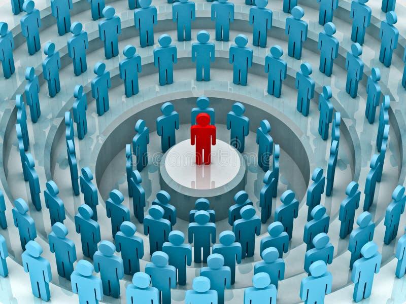 Het Concept van de leider royalty-vrije illustratie