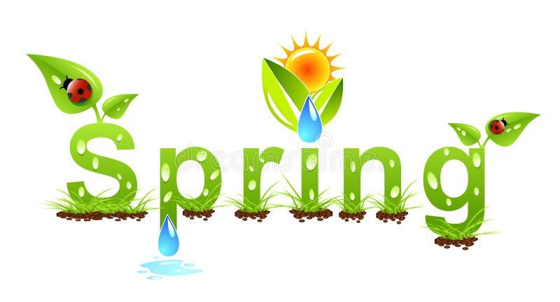 Het concept van de lente vector illustratie