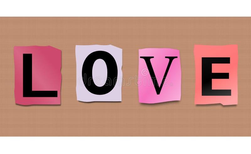 Het concept van de liefde. stock illustratie