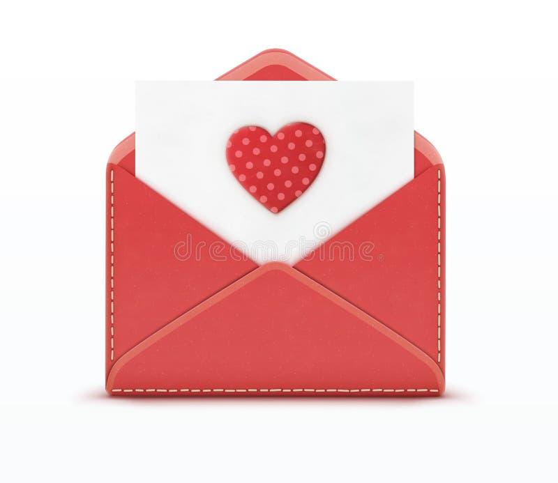 Het concept van de liefdebrief vector illustratie