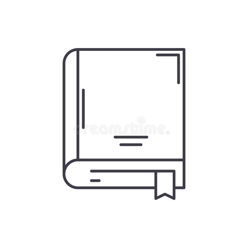 Het concept van het de lijnpictogram van het archiefboek De vector lineaire illustratie van het archiefboek, symbool, teken stock illustratie