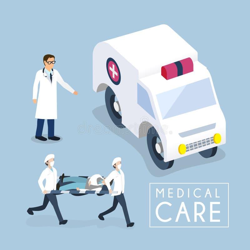 Het concept van de medische behandeling stock illustratie