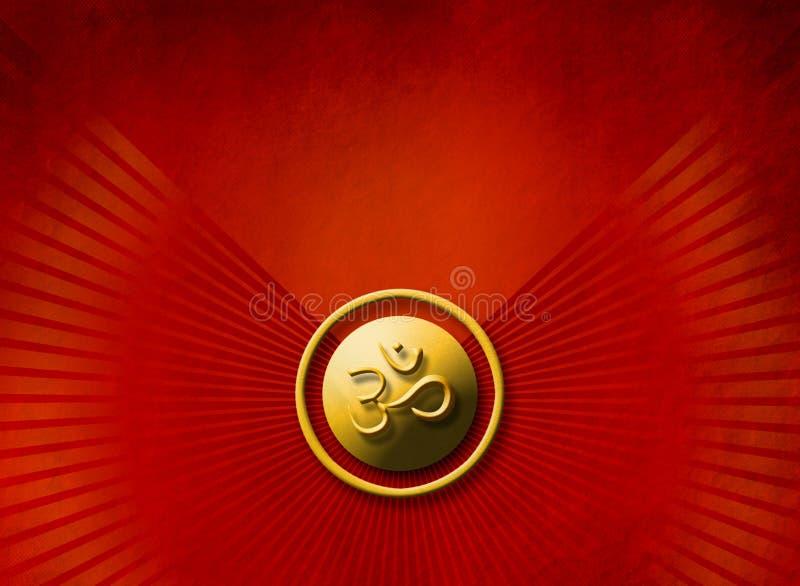 Het concept van de meditatie - gouden OM teken royalty-vrije stock foto's
