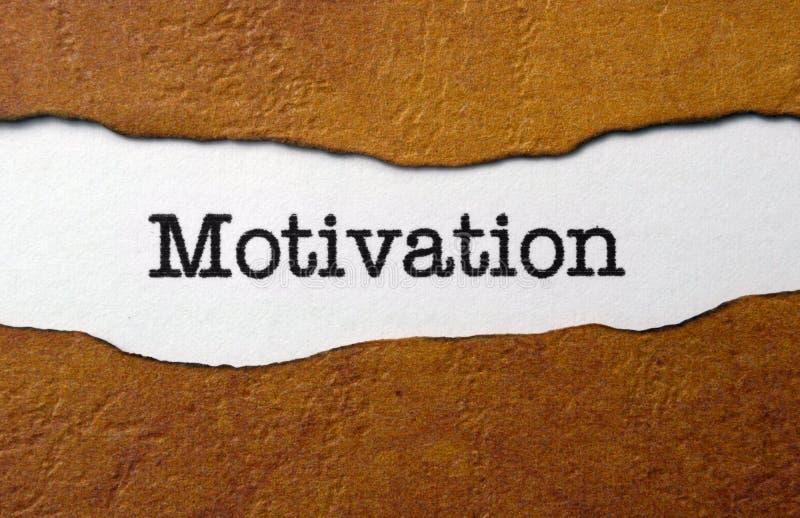 Het concept van de motivatie stock fotografie