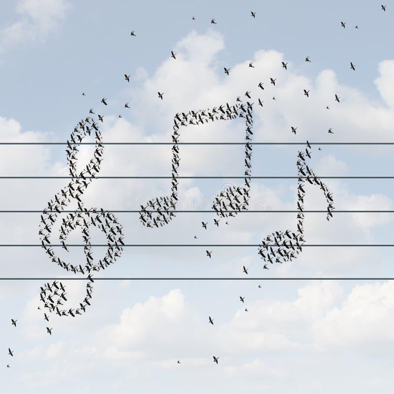 Het concept van de muziek royalty-vrije illustratie