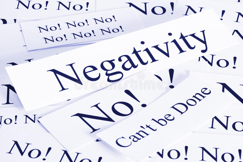 Het Concept van de negativiteit royalty-vrije stock afbeelding