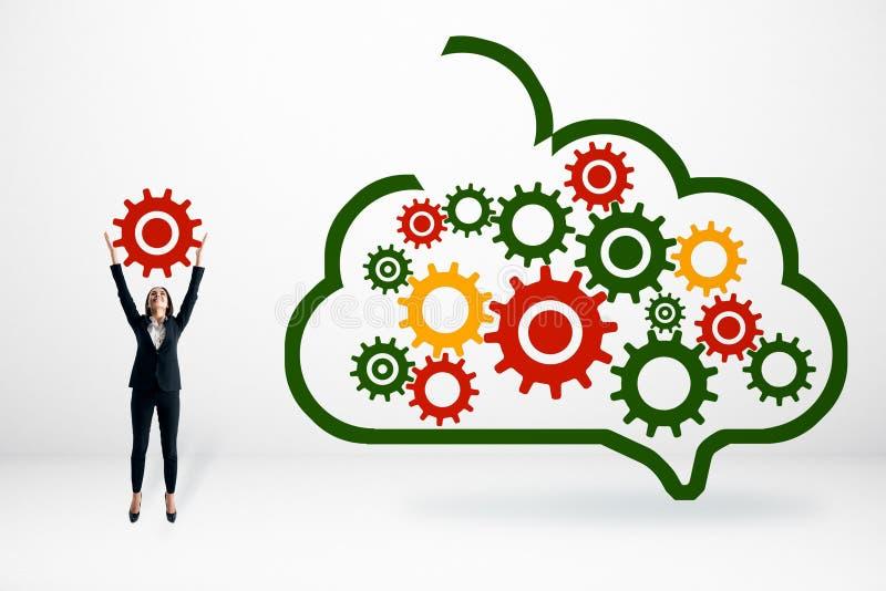 Het concept van de het netwerktechnologie van de gegevensopslag stock afbeeldingen