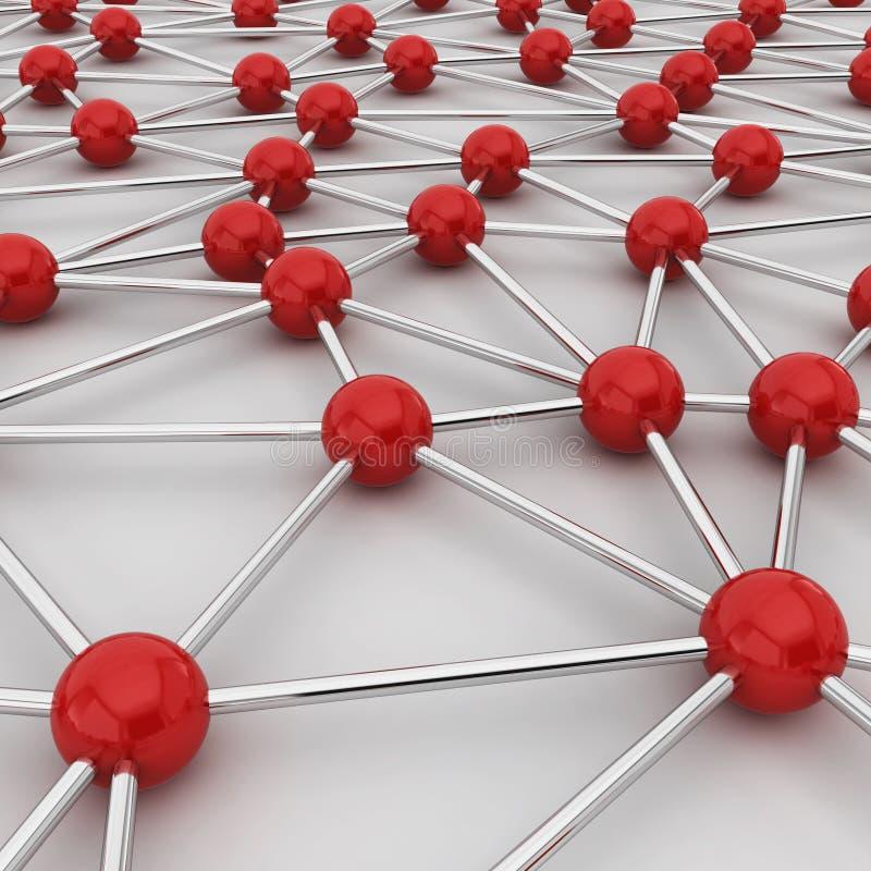Het concept van de netwerkverbinding royalty-vrije illustratie