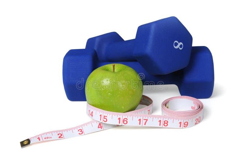 Het Concept van de oefening en van de Voeding royalty-vrije stock foto