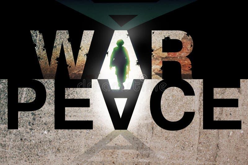 Het Concept van de oorlog en van de Vrede vector illustratie
