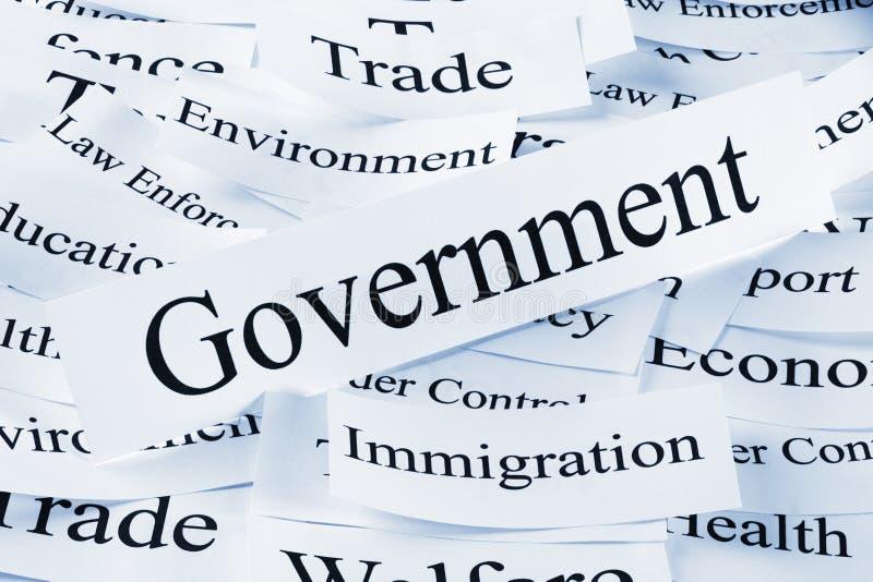 Het Concept van de overheid stock foto