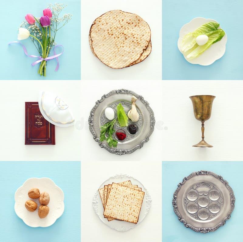 Het concept & x28 van de Pesahviering; Joodse Pascha holiday& x29; stock fotografie