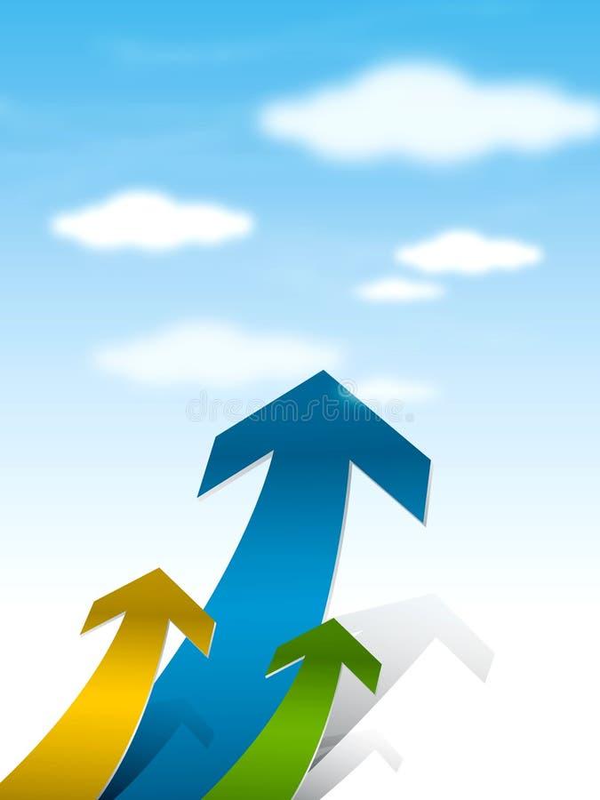 Het Concept van de Pijlen van de groei royalty-vrije illustratie