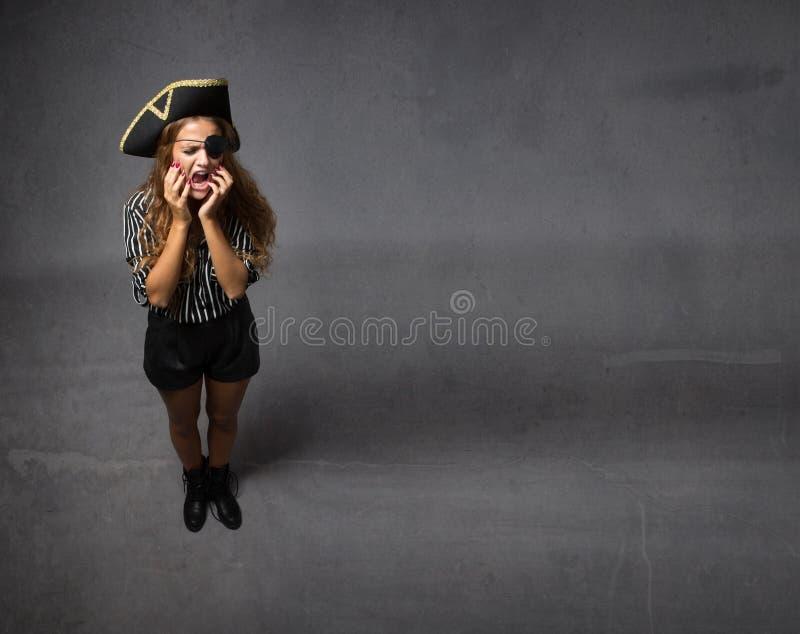 Het concept van de piraattandpijn royalty-vrije stock foto