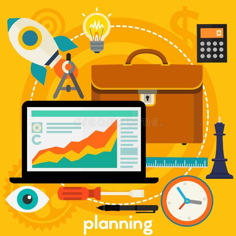 Het concept van de planning royalty-vrije illustratie