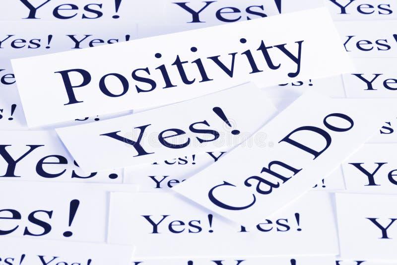 Het Concept van de positiviteit stock foto's