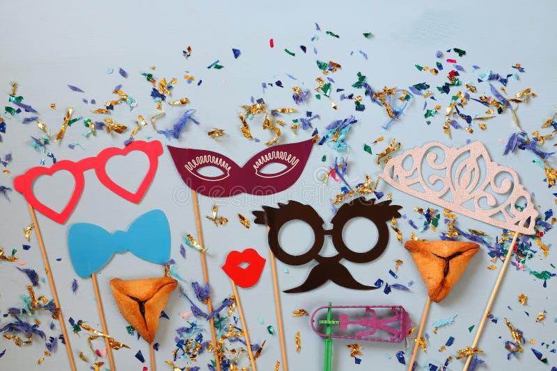 Het concept & x28 van de Purimviering; Joods Carnaval holiday& x29; royalty-vrije stock foto