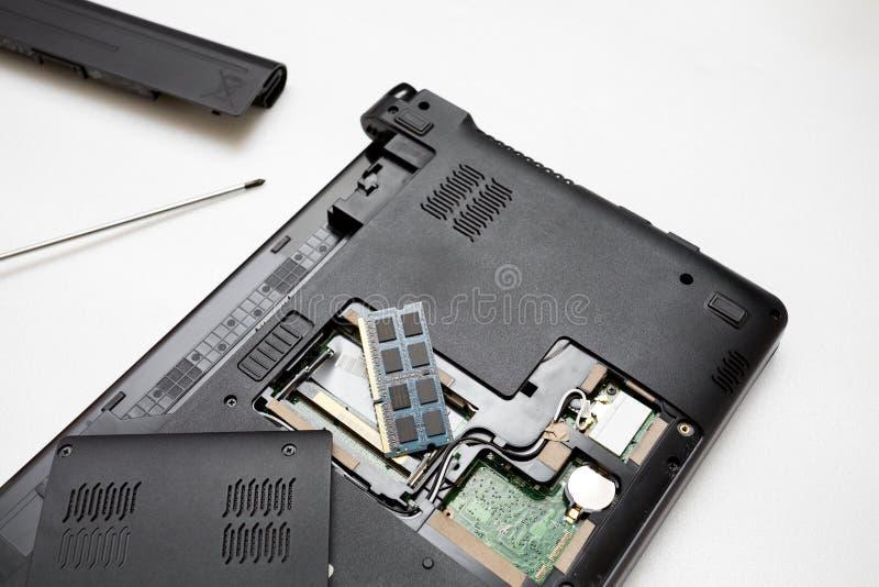 Het concept van de reparatiecomputer stock fotografie