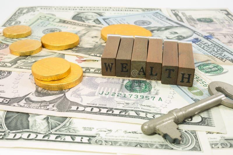 Het concept van de rijkdom stock foto