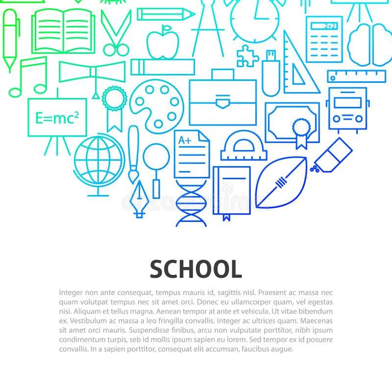 Het Concept van de schoollijn vector illustratie