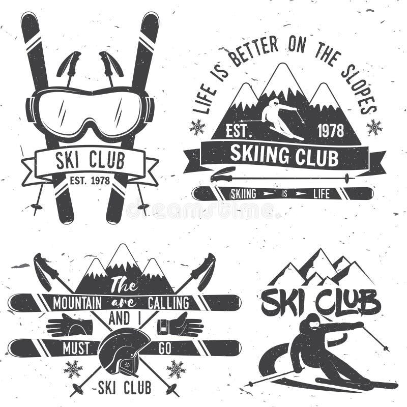 Het concept van de skiclub stock illustratie