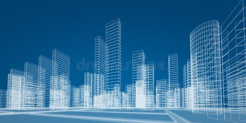 Het concept van de stad royalty-vrije illustratie