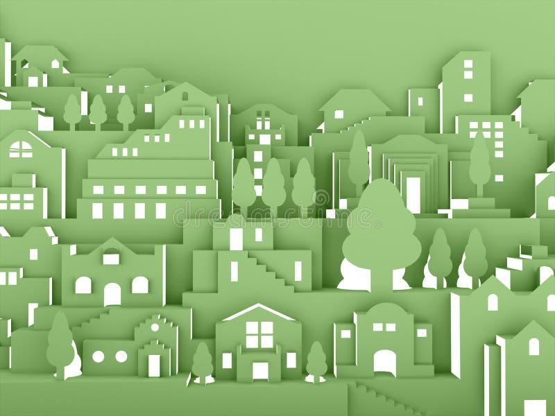 Het concept van de stadsnacht vector illustratie