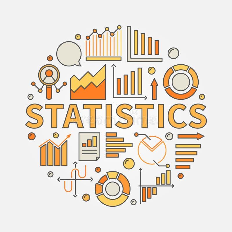Het concept van de statistiekenillustratie royalty-vrije illustratie