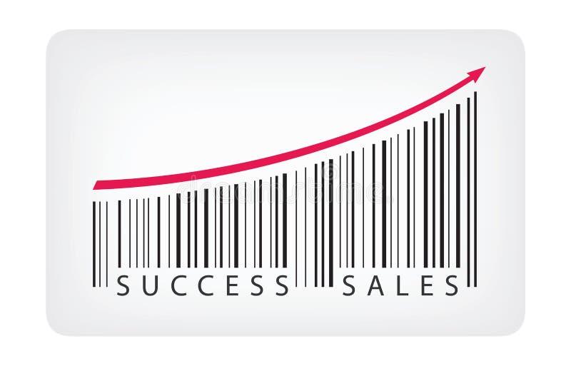 Het concept van de succesverkoop stock illustratie