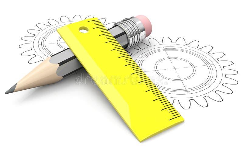 Het concept van de techniek vector illustratie