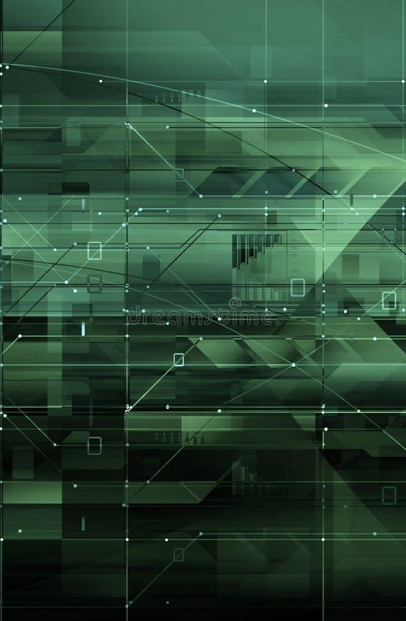 Het concept van de technologie & digitale kringen stock illustratie