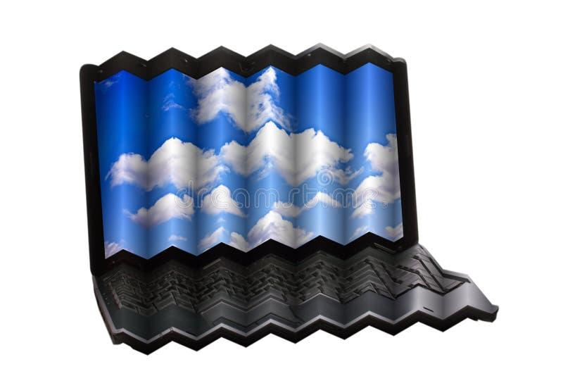 Het Concept van de Technologie van de Gegevensverwerking van de wolk vector illustratie