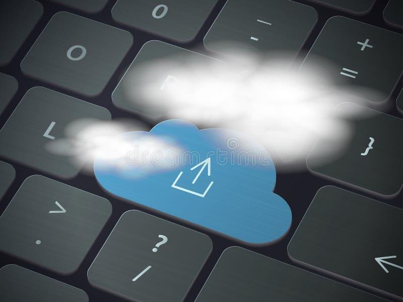 Het Concept van de Technologie van de wolk royalty-vrije illustratie