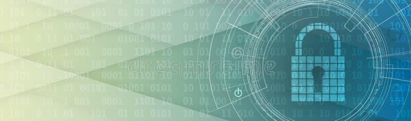 Het concept van de technologieveiligheid Moderne veiligheids digitale achtergrond royalty-vrije illustratie