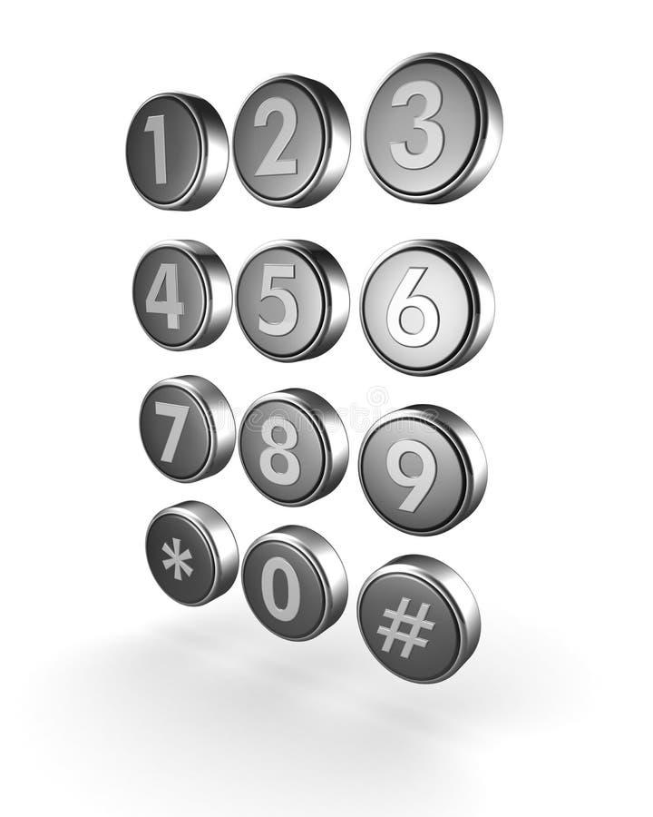 Het concept van de telecommunicatie of van het contact stock illustratie
