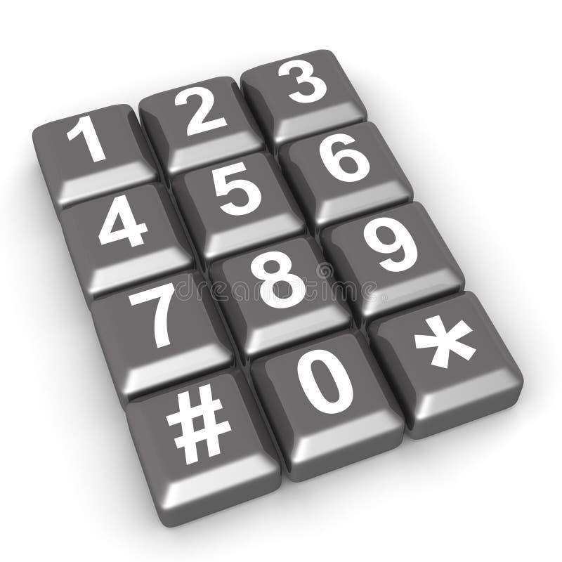 Het concept van de telecommunicatie of van het contact vector illustratie