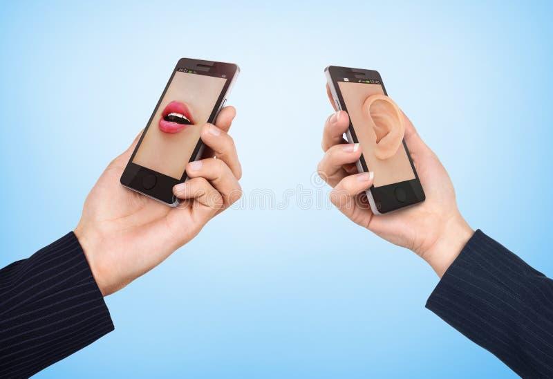 Het concept van de telefooncel stock afbeeldingen