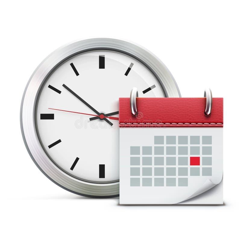 Het concept van de timing vector illustratie