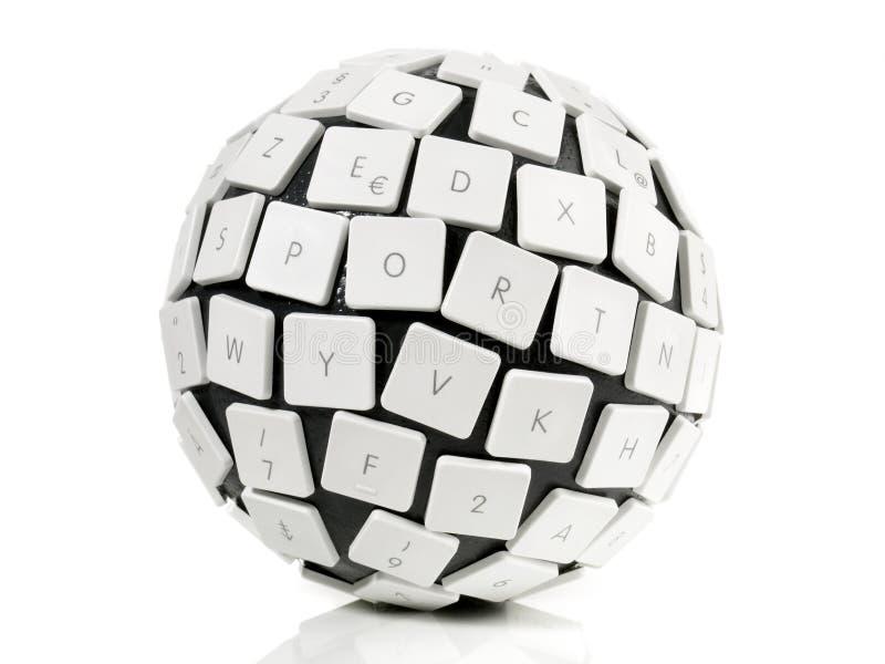 Het Concept van de toetsenbordbal royalty-vrije stock fotografie