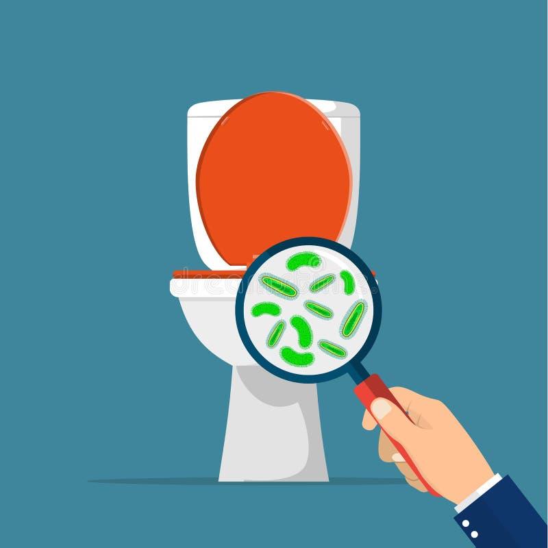Het concept van de toilethygiëne vector illustratie