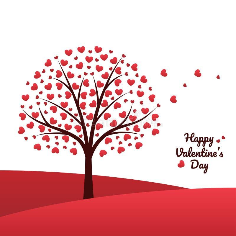 Het concept van de de valentijnskaartendag van de hartboom stock illustratie