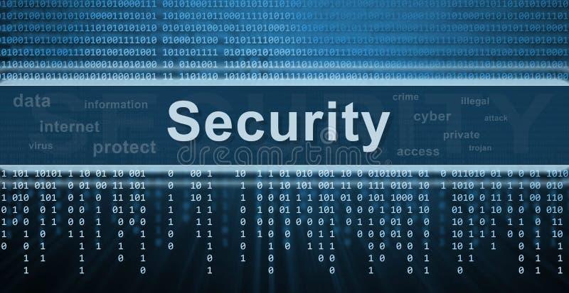 Het concept van de veiligheid. De achtergrond van de technologie royalty-vrije illustratie