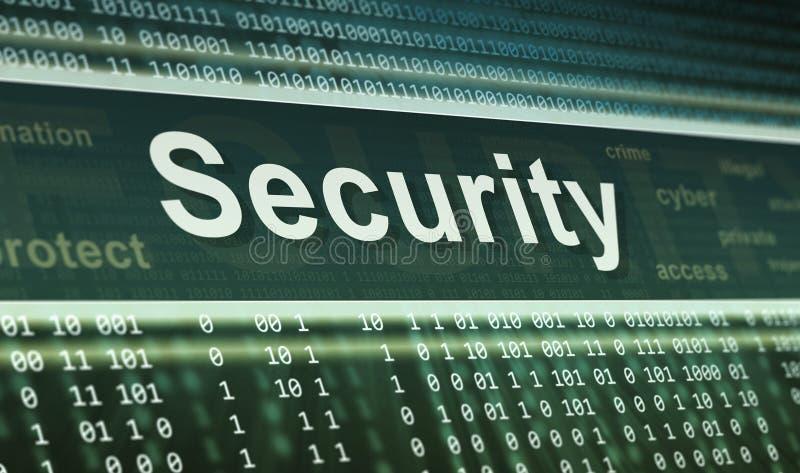 Het concept van de veiligheid. De achtergrond van de technologie vector illustratie