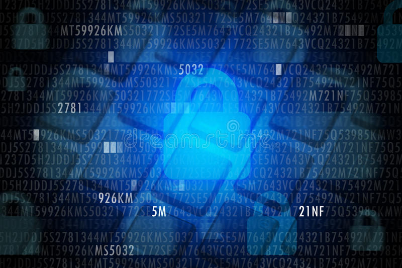 Het Concept van de Veiligheid van Cyber royalty-vrije stock fotografie