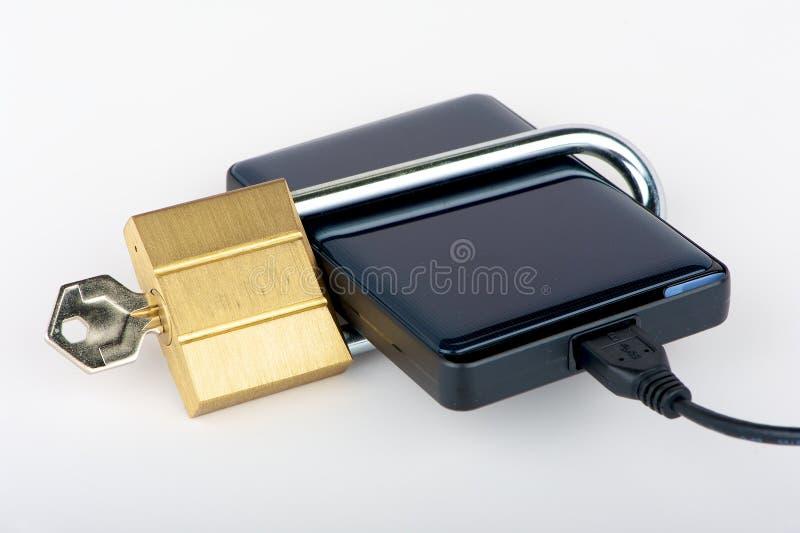 Het Concept van de Veiligheid van gegevens stock afbeelding