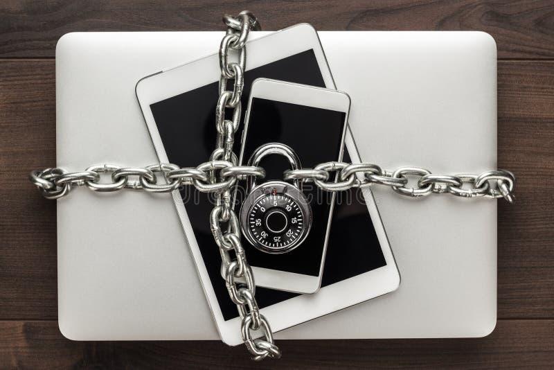 Het concept van de Veiligheid van gegevens royalty-vrije stock afbeeldingen